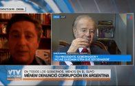 MENEM DENUNCIÓ CORRUPCIÓN EN SU PAÍS
