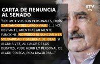 José Mujica concretó su renuncia al Senado