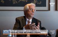 Vázquez solicitó información al Ministro Rossi sobre empresarios argentinos arrepentidos