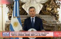 """Mauricio Macri: """"Esta crisis debe ser la última"""""""