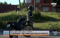 Operativo en barrio Lavalleja: 13 detenidos y armas incautadas